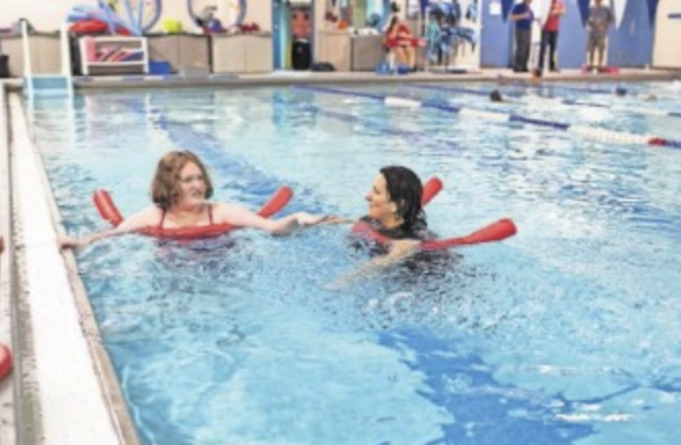 13-year-old Eden Facer was, at first, tentative about water, but has gained great confidence since taking lessons at the Union Avenue Community Fitness Center Pool. PHOTO BY ALLYSE PULLIAM